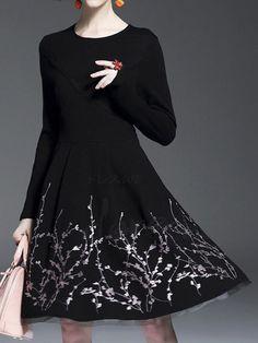 ファッション長袖ブラックワンピース シンプル doresuwe デザインは格安とか人気のものなどいろいろな種類があり、ここで。一番のサービスと最高品質の商品Doresuweで提供しています。