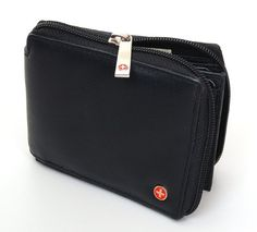 Secure what is in your wallet. Can you think of a better way then a wallet that zips around. Good capacity and well constructed. The size of a classic bifold wallet that is only slightly larger. Made of soft lambskin leather and comes in a cotton gift bag. AS OF JANUARY 2012 ALL ZIPPER HARDWARE WAS UPGRADED.