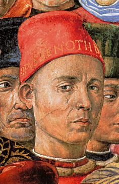 Benozzo Gozzoli, Self-portrait, detail from The Procession of the Magi, 1459, fresco, Palazzo Medici-Riccardi, Florence
