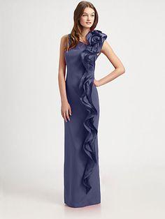 DESIGNER: TERI JON DETAILS HERE:Silk Gown