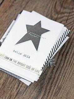 Carte de voeux étoile argenté de sandrine chez kesi art