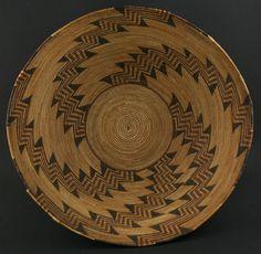 California Native American Indian Baskets - Yokuts Polychrome Basket
