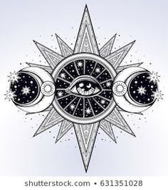 All-seeing eye is on Tattoo Tarot, Simbols Tattoo, Occult Tattoo, Sun Tattoos, Small Tattoos, Sleeve Tattoos, All Seeing Eye Tattoo, Zodiac Sign Tattoos, Capricorn Tattoo