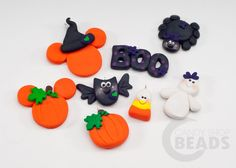 Polymer Clay Bow Centers and Pendants Halloween by CandyShopDrops, $2.50