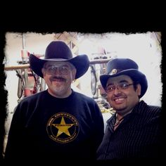 With David A Torres at Texas Hatters, Lovkhart, TX. Black 100% Beaver Cattleman.