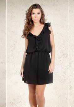 Vestido Blusas & Tops, Vestidos & Macacões, Calça, Bermudas & Saias, Acessórios, Mais Vendidos, Promoções CREPE DECOTE COSTAS