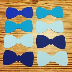 Shades of Blue Bow Tie Cut Outs Great for Baby Showers, Invitations, Confetti, Scrapbooking and more. Multiple Sizes Cardstock Cut Outs At least 65lb cardstock. Are you looking for custom colors or different sizes? You may visit my other listing at: