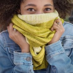Last peek from I KNIT NY : the Sheep Meadow cowl from @modernlopi Lars . : : Its big and soft and I wish I had it to wear today . Pre-order now its on press fr @onemorerowpress : : @backyardfiberworks gradient kit  short rows =  : :  Its been so fun to share these pre-release peeks from the book photoshoot. Usually I have to sit tight and keep it all under my   :  Model: @beccafoxdesign : : me #galezuckerphotography :  #iknitnewyork #knitstagram #handknit #iknitny