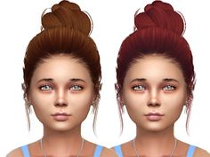 Tsminhsims hair 46 aurora convert for child Sims 4 Mod & Pack Women Hairstyles Sims 4 Toddler, Toddler Hair, Sims 4 Cc Folder, Play Sims 4, Mod Hair, Sims 4 Cc Kids Clothing, Sims 4 Children, Sims 4 Gameplay, Sims 4 Cc Packs