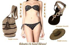 #beachstyle #summerlook #trend  Get this summer the #africa trend!  Wear your #animalier #beachwear, lots of #leather & #straw!:)    #ralphlauren #fisico #zanotti