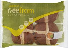 hot cross buns Hot Cross Buns, Sainsburys, Dairy Free, No Dairy
