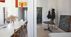"""""""This house goes against the rules of good design"""" says Alberto, architect in Rome, Italy… Indeed, the floor plan of this open spaced loft is quite unusual, with a bedroom behind the dining space, but out of 75 square meter [807 square feet], Alberto managed to create a family friendly loft full of life and..."""