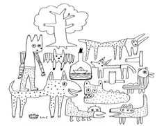 Print this original drawing and instantly color it in! Perfect for holiday activities for all ages in the family.  When you purchase this item you will