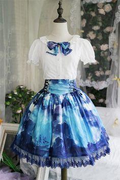 Angelcat Lolita ~Ship at Starry Night ~ Lolita Skirt - 4 Colors Available54.99USD - My Lolita Dress