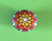 Mandala Stone- Hand Painted Rock- dot painting- meditation- inspiration- decoration