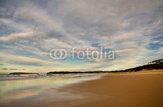 Picture of Spanish destination on Atlantic Ocean, Somo beach in Cantabria region stock photo, images and stock photography. Atlantic Ocean, Spanish, Clouds, Stock Photos, Beach, Water, Adobe, Pictures, Photography