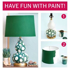 Use paint to add color and interest to a basic lamp. Follow the directions here to create this stunning piece.