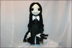 Gothic Fairy, Black Bat, Creepy Art, Doll Stands, New Dolls, Vintage Buttons, Nightmare Before Christmas, Beautiful Dolls, Hand Stitching