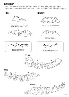 Tutorial on how to draw frills how to draw anime Drawing Techniques, Drawing Tips, Drawing Reference, Drawing Sketches, Fashion Design Drawings, Fashion Sketches, Digital Painting Tutorials, Art Tutorials, Art Anime
