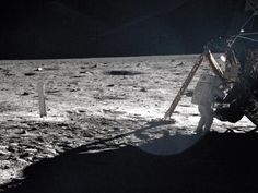 On the Lunar Surface: Neil Armstrong photo album from NASA