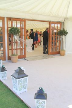 Bay Trees framed the entrance to the Marquee