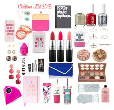 """""""Holiday Gift Guide"""" by abby2cadaby on Polyvore featuring Essie, Topshop, NYX, Kate Spade, Accessorize, philosophy, MAC Cosmetics, River Island, Lilly Pulitzer and ban.do"""