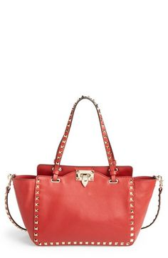 Valentino+'Mini+Rockstud'+Leather+Tote+available+at+#Nordstrom