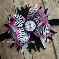Hey, I found this really awesome Etsy listing at https://www.etsy.com/listing/235741937/first-birthday-bow-headband-zebra-print
