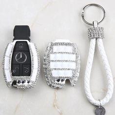 Mercedes Benz Crystal Car Key Holder with Rhinestones Bling