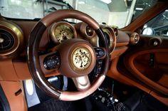 #Steampunk meets #Car #Design... Mini Cooper Countryman by Carlex Design. I'm lovin' the copper accents!