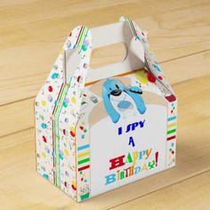 Dog Detective Happy Birthday Scavenger Hunt Party Favor Box - kids birthday gift idea anniversary jubilee presents