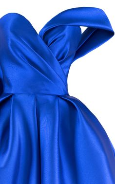 Crafted in Mikado silk this, **Mark Bumgarner** gown features a sweetheart neckline, a draped bodice, and a full length skirt. Mark Bumgarner, Simple Party Dress, Chic, Dream Dress, Royal Blue, Ball Gowns, Team 2, Couture, Hoodies