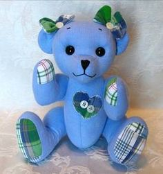 Memory bear created from a loved ones clothes.