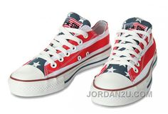 fdd49770a3e8 American Flag Converse by John Varvatos Chuck Taylor All Star Low Top  Canvas Shoes