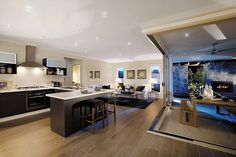 stunning kitchen and living space... eden brae homes...