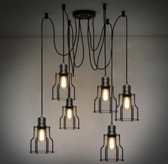 Vintage-Industrial-Ajustable-Grande-hagalo-usted-mismo-Techo-Lampara-Luz-Colgante-De-Iluminacion
