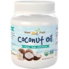 Island Fresh Superior Organic Virgin Coconut Oil, 54 Ounce ** Visit the image link more details. (This is an affiliate link) Best Coconut Oil, Extra Virgin Coconut Oil, Organic Coconut Oil, Organic Oil, Coconut Milk, Benefits Of Organic Food, Health Benefits, Natural Farming, Gourmet