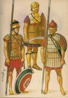 Orden de Batalla. Historia Militar: El Ejército de Alejandro Magno. Diferentes tipos de Infantería macedonia.