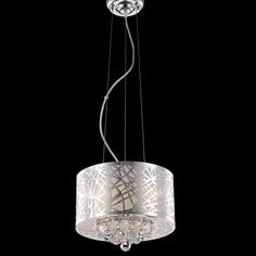 "Elegant Lighting 2078D12C/RC Prism Collection Hanging Fixture D12"" x H10"" Chrome Finish (Royal Cut Crystals)"