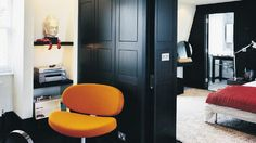 CAPPELLINI - Susnset chair in orange by Pillet @My Hotel, London Lounge Seating, Higher Design, Master Bedrooms, Contemporary Furniture, Tall Cabinet Storage, Design Inspiration, Cap, London, Sunset