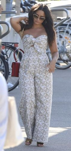 Demi Lovato out in Cannes. #bestdressed