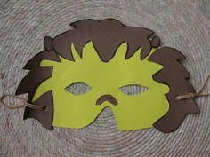 Màscara de lleó lion mask, school craft
