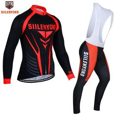 ceffb8ff3 Siilenyond 2017 Winter Thermal Fleece Cycling Jersey Maillot Ropa Ciclismo  MTB Long Sleeve Keep Warm Bike Wear Bicycle Clothing