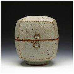 Warren MacKenzie Stoneware, gray glaze 6.25x5.75x5.75 2009 stamped/signed by artist M032