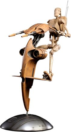 "Sideshow Collectibles Star Wars - S.T.A.P. & Battle Droid Sixth Scale Figure Set ~ ""The detailed S.T.A.P. (Single Trooper Aerial Platform) vehicle comes mounted on a specially engineered base that allows for a wide range of motion, positioning & is piloted by an fully articulated Battle Droid Sixth Scale figure."" ~ SRP: $174.99 ~ Limited Edition: 2500"
