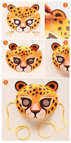 How to make a Leopard mask as a costume or to learn more about Leopards in class. https://happythought.co.uk/product/printable-wild-animal-masks