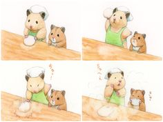 Hamster Live, Hamster Names, Hamsters As Pets, Funny Hamsters, Cute Animal Illustration, Cute Animal Drawings, Japanese Hamster, Cute Reptiles, Cute Comics