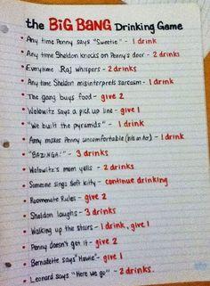 """""""The Big Bang Theory"""" Drinking Game"""