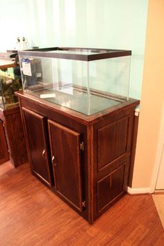 Fish Aquarium Stand (40 Breeder Tank With Hidden Sump Door)