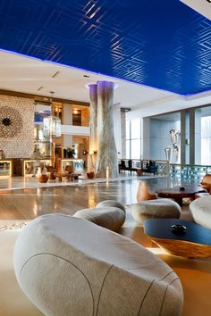 The towering lobby sets the design tone, mixing organic materials with Moroccan motifs. Sofitel Essaouira Mogador Golf & Spa (Essaouira, Morocco) - Jetsetter